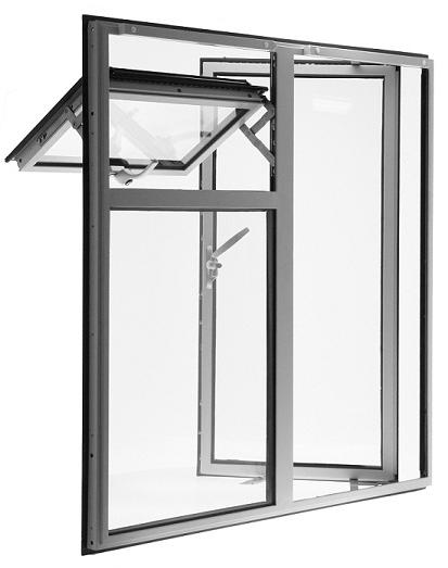 металлические окна со стеклопакетом